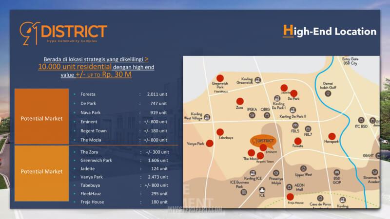Lokasi 91 District BSD - Dekat Perumahan