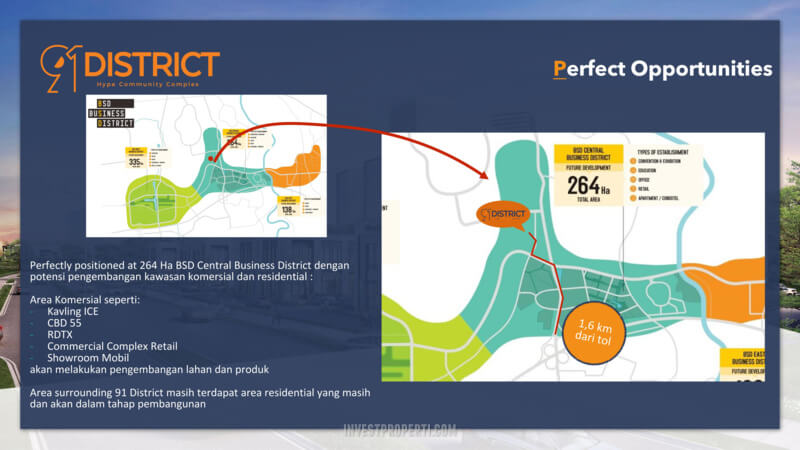 91 District BSD Prime Location