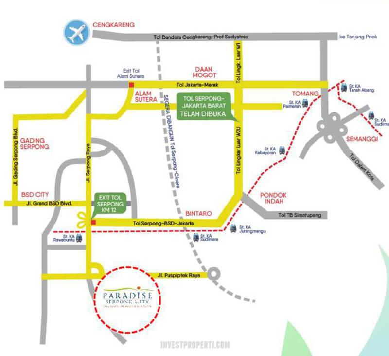 Akses Transportasi Paradise Serpong City