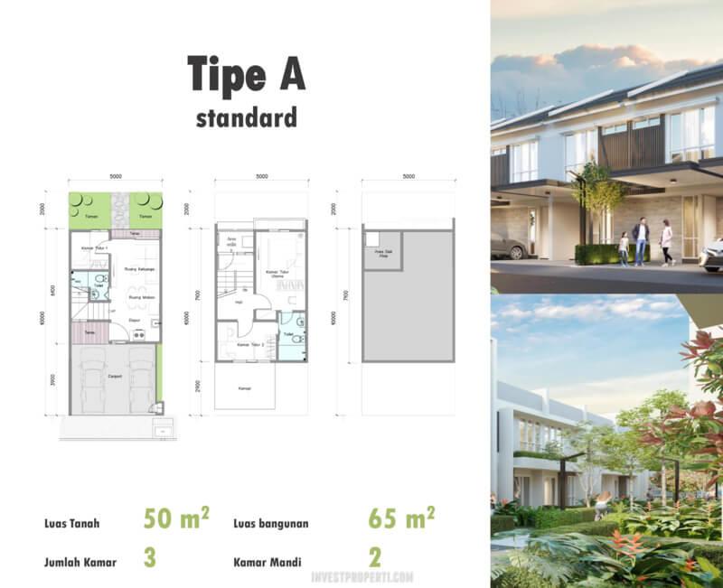 Denah Rumah Duo Residence Tipe A Std