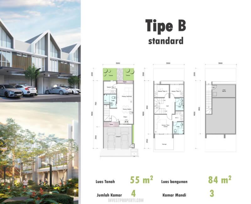 Denah Rumah Duo Residence Tipe B Std