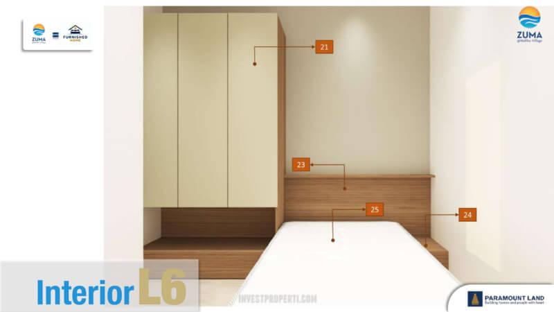 Furniture Rumah Zuma Malibu Village Tipe L6 - Bedroom