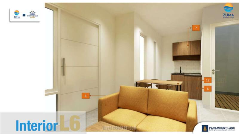 Furniture Rumah Zuma Malibu Village Tipe L6 - Dining room
