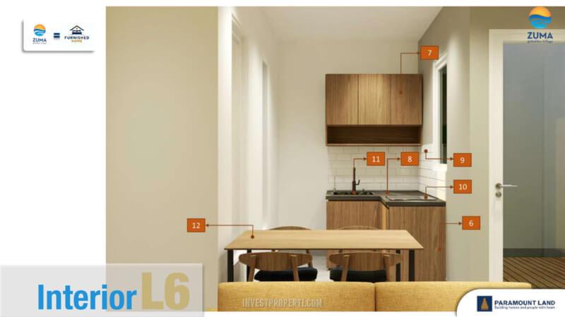 Furniture Rumah Zuma Malibu Village Tipe L6 - Kitchen