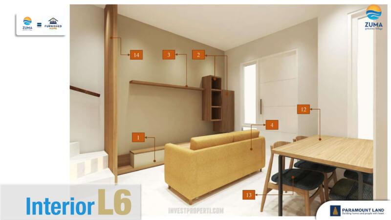 Furniture Rumah Zuma Malibu Village Tipe L6 - Living room