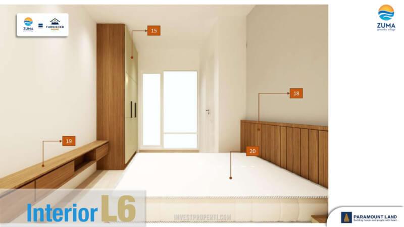 Furniture Rumah Zuma Malibu Village Tipe L6 - Master Bedroom