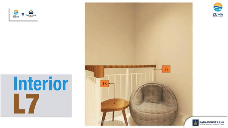 Furniture Rumah Zuma Malibu Village Tipe L7 - Bean Bag