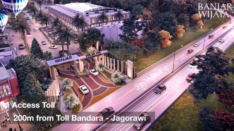 Lokasi Banjar Wijaya Tangerang 200 m dari pintu Tol