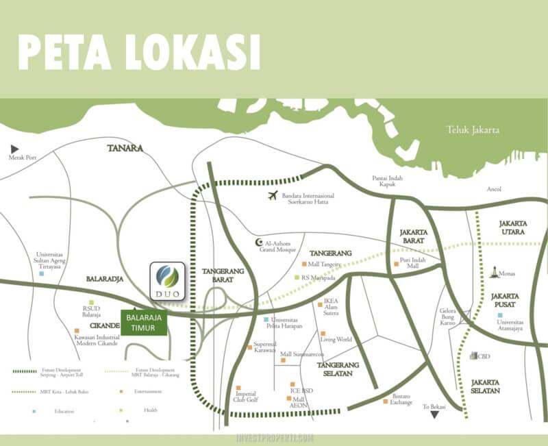 Lokasi DUO Residence Talaga Bestari