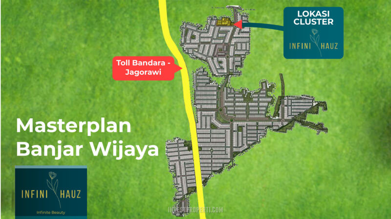 Lokasi InfiniHauz Banjar Wijaya