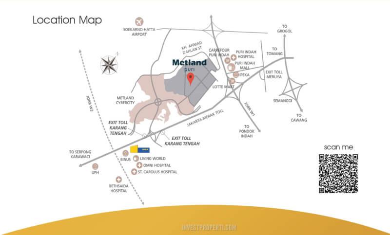 Lokasi Metland Puri