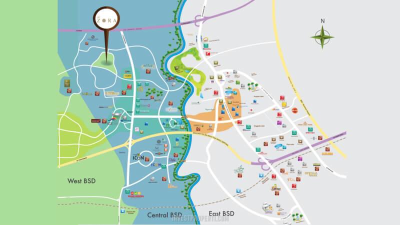 Peta Lokasi The Zora BSD