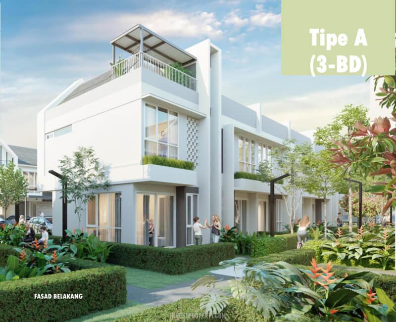 Rumah DUO Residence Talaga Bestari Tipe 3 BD