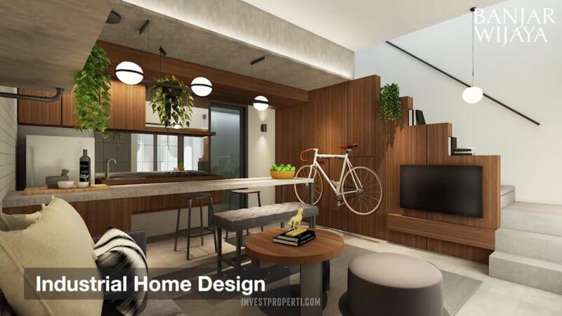 Rumah Infini Hauz Banjar Wijaya Industrial Home Design