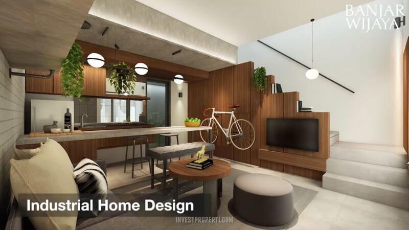 Rumah Infini Hauz Banjar Wijaya Living Room Design