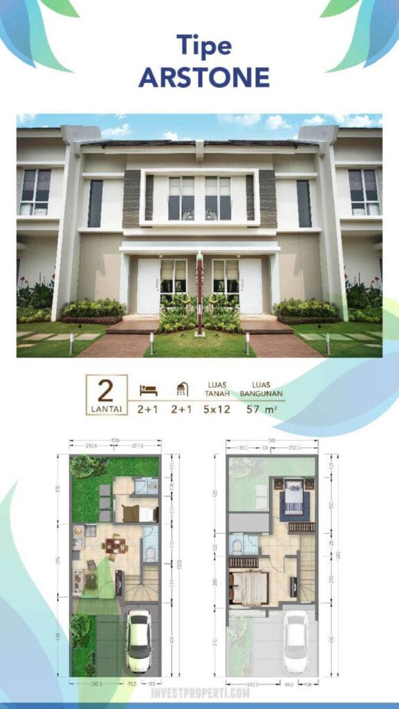 Rumah Vista Residence Tipe Arstone