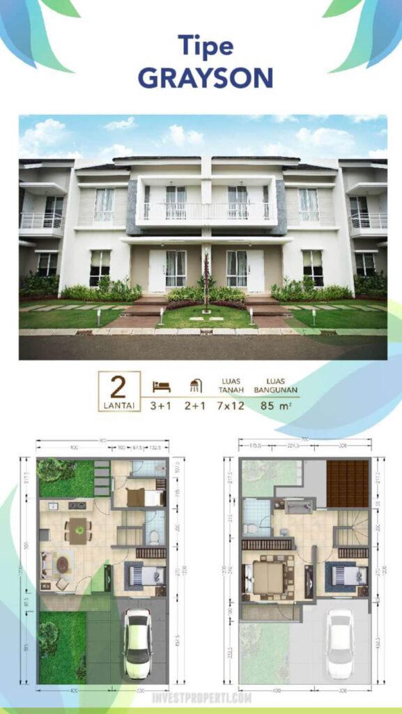 Rumah Vista Residence Tipe Grayson