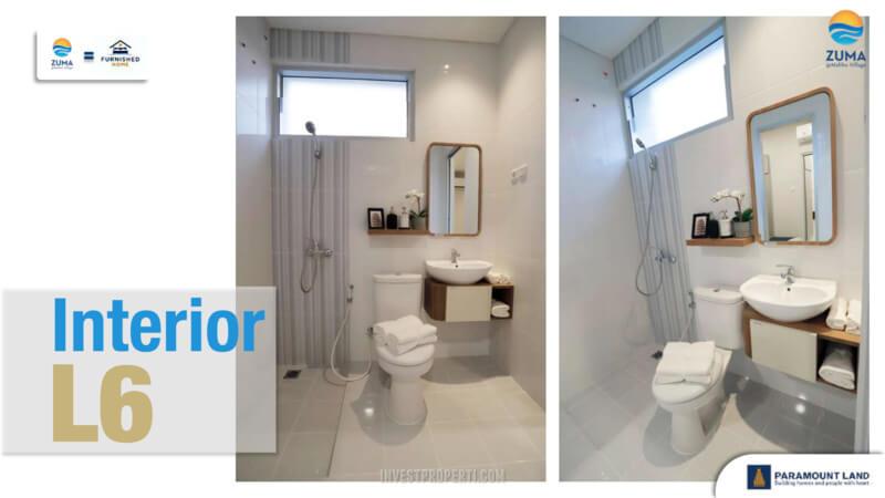 Show Unit Rumah Zuma Malibu Village Tipe L6 - Toilet