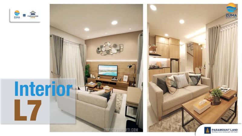 Show Unit Rumah Zuma Malibu Village Tipe L7 - Living Room