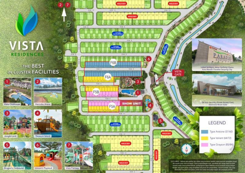 Siteplan Fasilitas Vista Residences