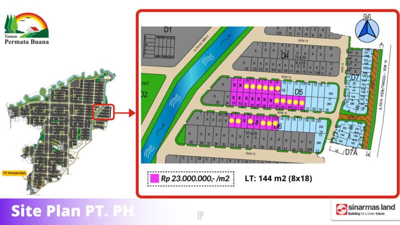 Siteplan Kavling Permata Hijau