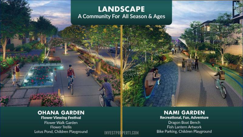 Ohana dan Nami Garden - The Zora BSD