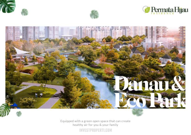 Fasilitas Danau Eco Park PIK2