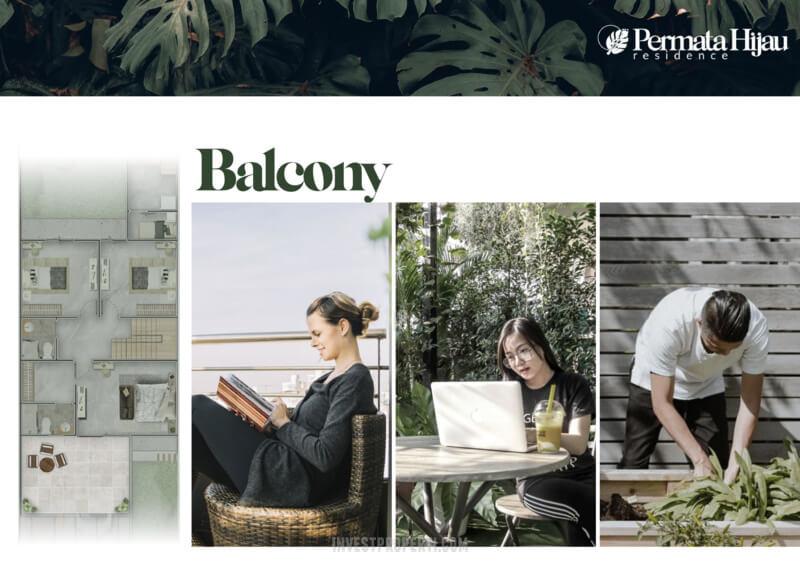Fitur Rumah Permata Hijau Residence PIK2 - Balcony