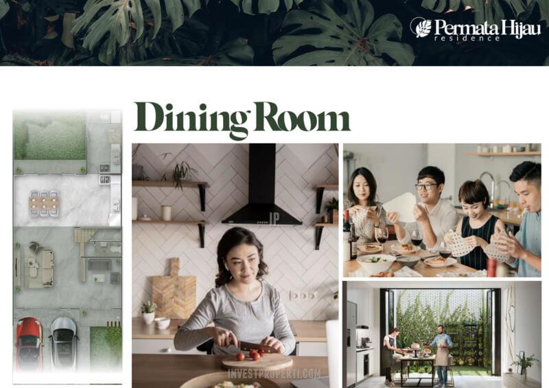 Fitur Rumah Permata Hijau Residence PIK2 - Dining Room