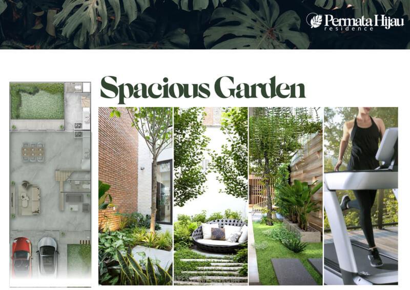 Fitur Rumah Permata Hijau Residence PIK2 - Spacious Garden