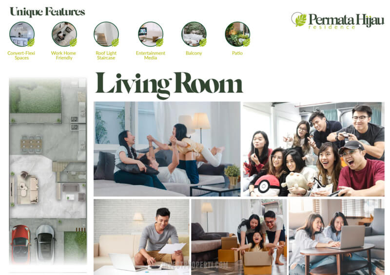 Fitur Rumah Permata Hijau Residence PIK2 - Living Room