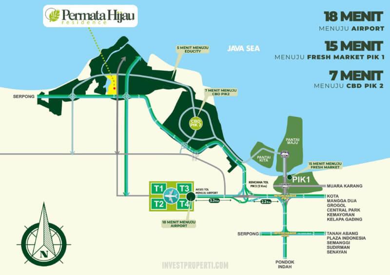 Peta Lokasi Permata Hijau Residence PIK 2 Jakarta