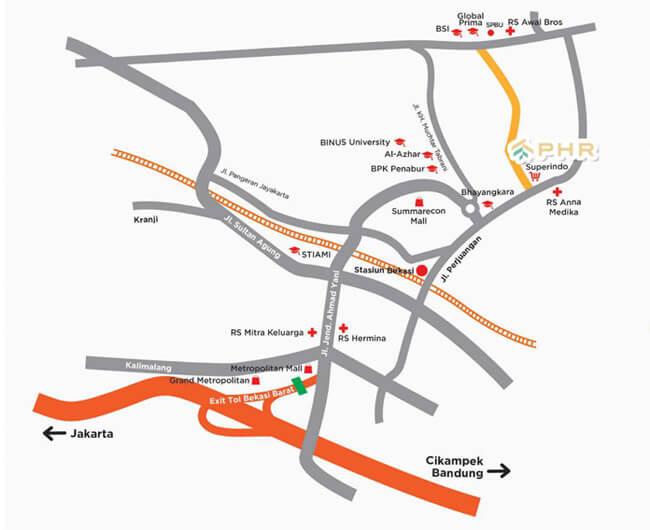 Peta Lokasi PHR Bekasi