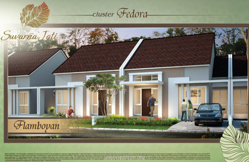 Rumah Cluster Flamboyan Suvarna Sutera Tipe Fedora