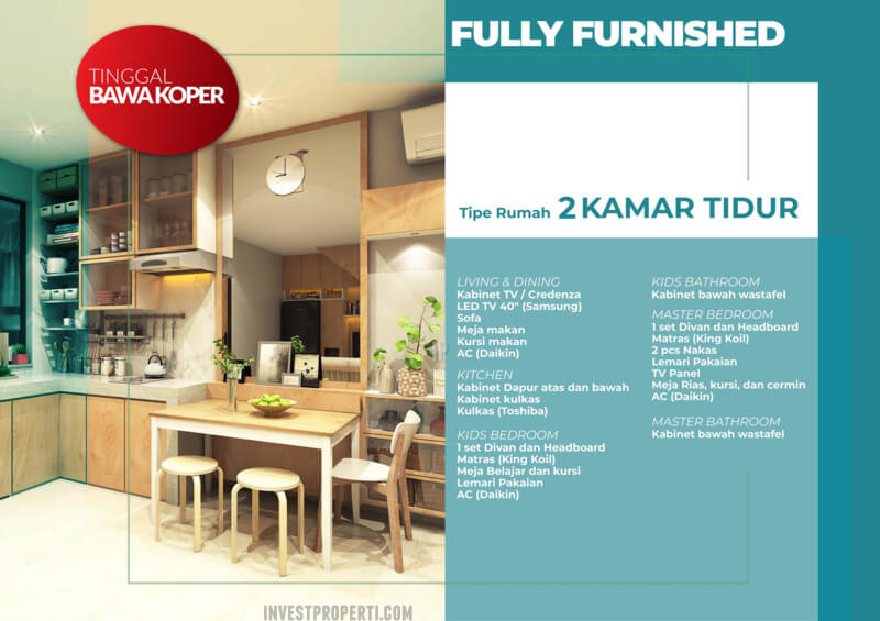 Rumah Milenial PIK2 PROMO Full Furnish + Elektronik 2 BR