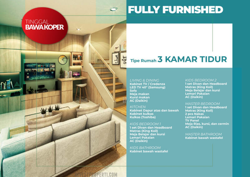 Rumah Milenial PIK2 PROMO Full Furnish + Elektronik 3 BR