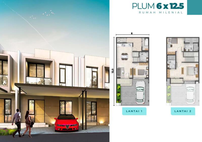Rumah Milenial PIK2 Cluster Florida 6x12.5