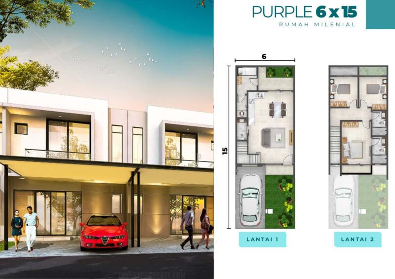 Rumah Milenial PIK2 Cluster Florida 6x15