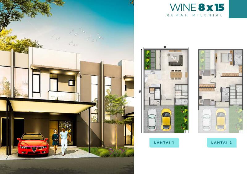 Rumah Milenial PIK2 Cluster Florida 8x15
