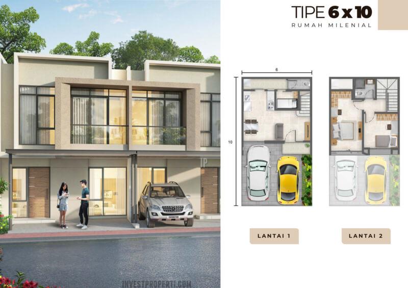 Rumah Milenial PIK2 Tipe 6x10