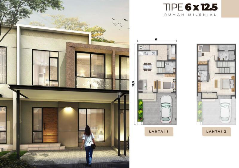 Rumah Milenial PIK2 Tipe 6x12.5