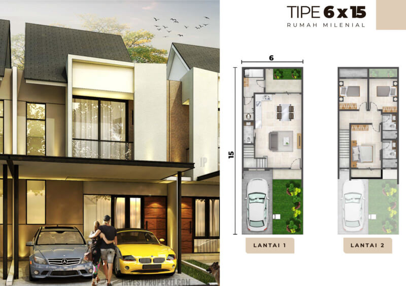 Rumah Milenial PIK2 Tipe 6x15