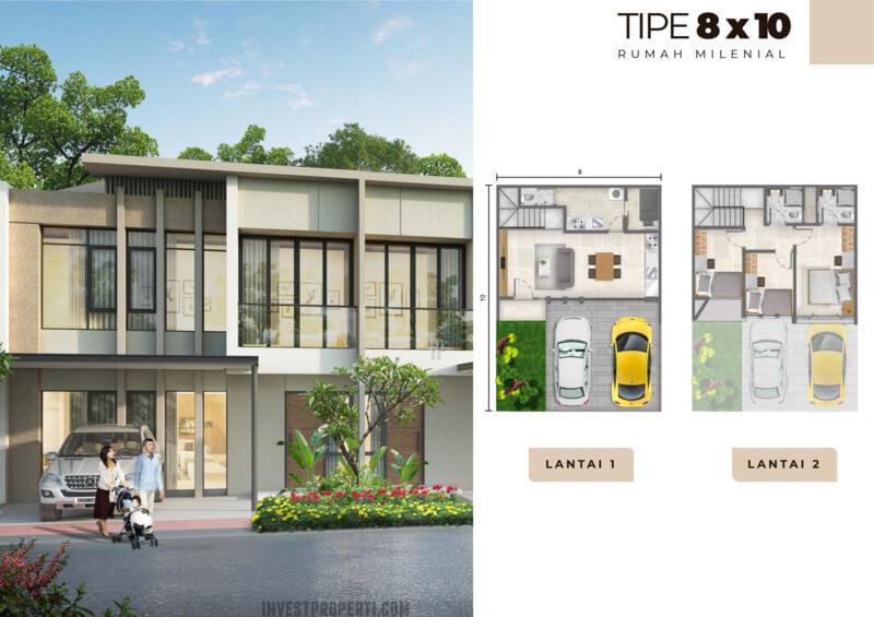 Rumah Milenial PIK2 Tipe 8x10