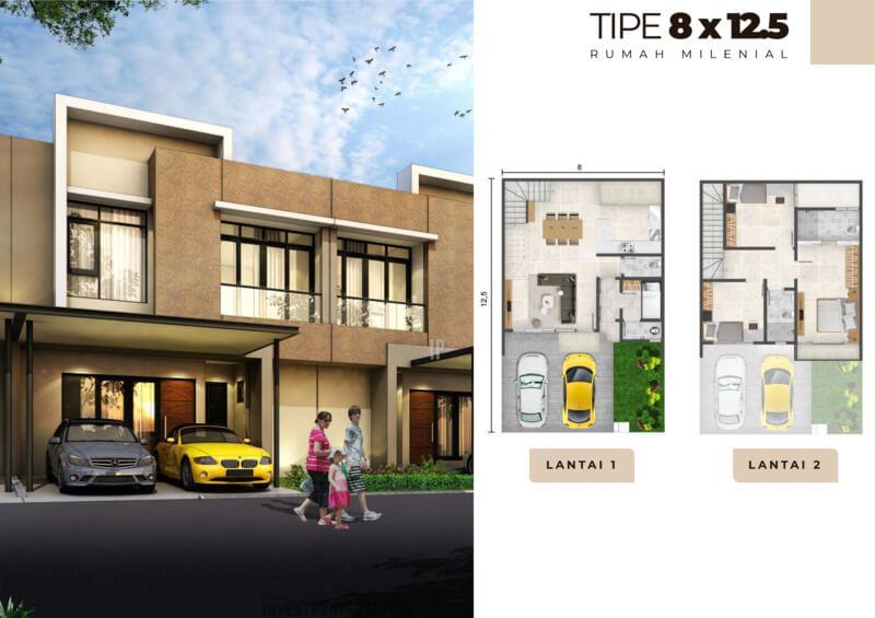 Rumah Milenial PIK2 Tipe 8x12.5