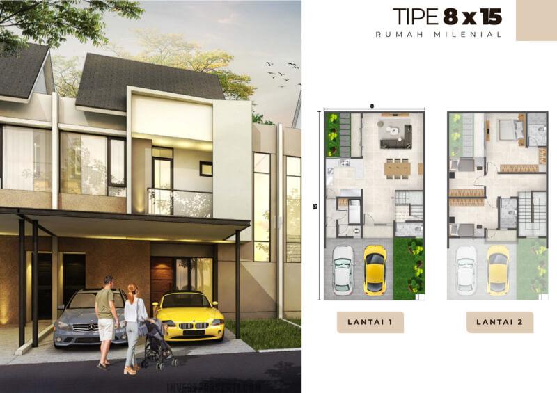 Rumah Milenial PIK2 Tipe 8x15
