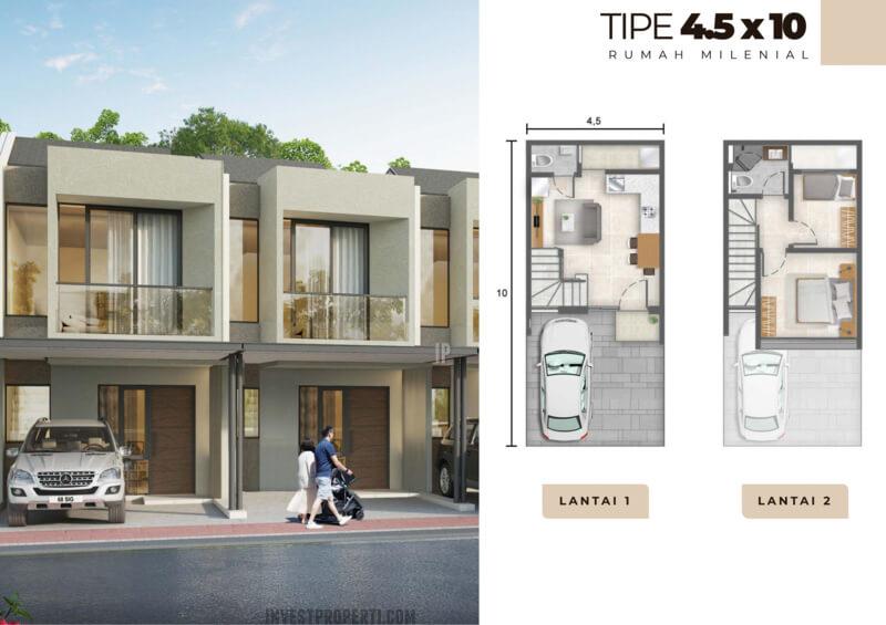 Rumah Milenial PIK2 Tipe 4.5x10