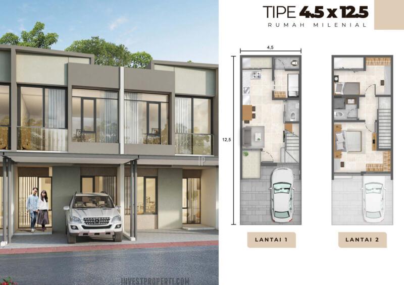 Rumah Milenial PIK2 Tipe 4.5x12.5