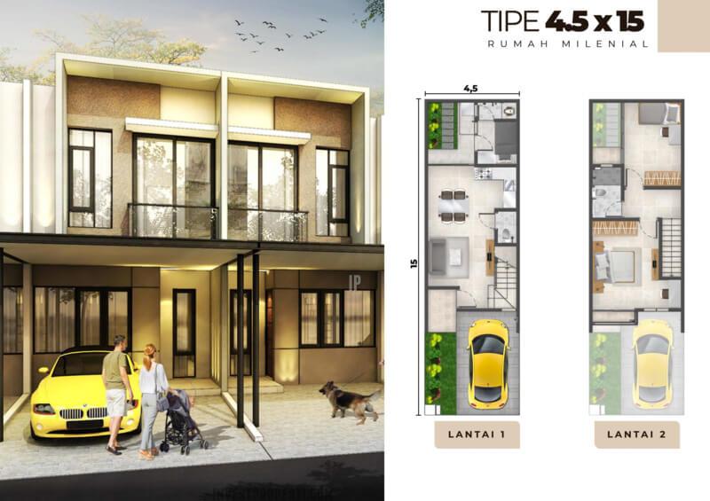 Rumah Milenial PIK2 Tipe 4.5x15