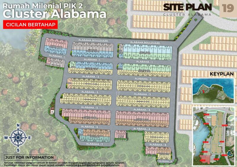 Siteplan Cluster Alabama PIK2