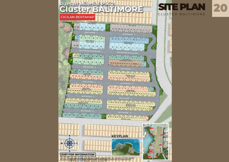 Siteplan Cluster Baltimor PIK2